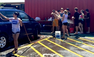 Swim Team Car Wash at Rudy's BBQ and Country Store on 9/12/15