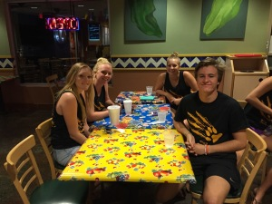Seniors at Original Burrito Company 9-17-15
